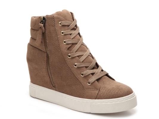 Steve Madden Lynn High-Top Wedge Sneaker