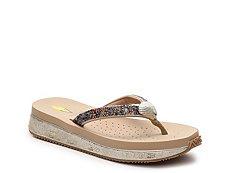 Volatile Seashell Wedge Sandal
