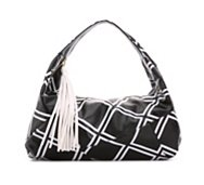 POVERTY FLATS by rian Diamond Print Hobo Bag