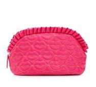 Betsey Johnson Large Lip Ruffle Cosmetic Bag