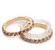 One Wink Crystal Stretch Bracelet Set