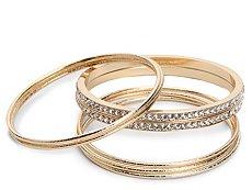One Wink Rhinestone Bangle Bracelet Set
