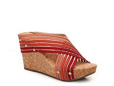 Lucky Brand Miller 2 Striped Wedge Sandal