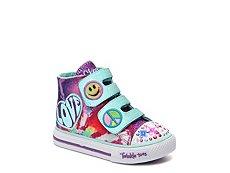 Skechers Shuffle Hippie Skips Girls Toddler Light-Up High-Top Sneaker