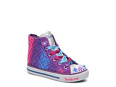 Skechers Shuffles Magic Maddness Girls Toddler & Youth Light-Up High-Top Sneaker