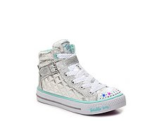 Skechers Twinkle Toes Sweetheart Girls Toddler & Youth Light-Up High-Top Sneaker