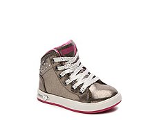 Skechers Shoutouts Zipsters Girls Toddler High-Top Sneaker