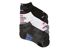 Puma Dark Marled Womens No Show Socks - 6 Pack