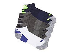 Puma Marled Colorblock Mens No Show Socks - 6 Pack