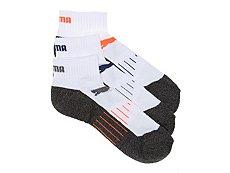 Puma Marled Mens No Show Socks - 3 Pack