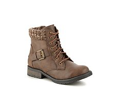 Steve Madden Buckles Sweater Girls Youth Boot