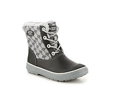 Keen Elsa Houndstooth Girls Youth Snow Boot