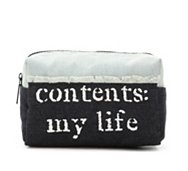 Mix No. 6 Frayed Denim My Life Cosmetic Bag
