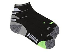 Puma Impact Mens No Show Socks - 3 Pack