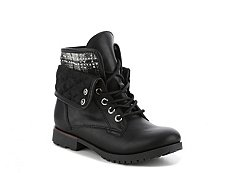 Rock & Candy Giggle Girls Toddler & Youth Combat Boot