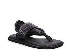 Sanuk Yoga Sling Plaid Flat Sandal