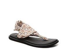 Sanuk Yoga Sling Flower Flat Sandal