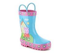 Peppa Pig On Bike Girls Toddler Rain Boot