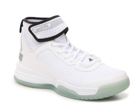 retro all white adidas basketball shoes
