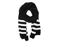 Kelly & Katie Stripe Trim Oblong Scarf