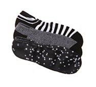 Converse Stars & Stripes Womens No Show Socks - 3 Pack