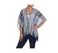 Do Everything In Love Colorful Geometric Kimono