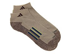 adidas Climalite Mens No Show Socks - 2 Pack