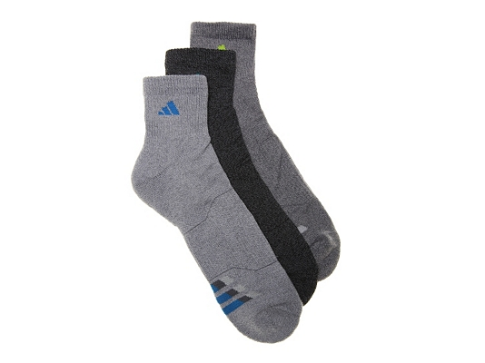 adidas Cushioned Climalite Mens Ankle Socks - 3 Pack