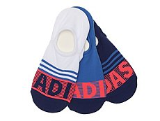 adidas Stripe Womens No Show Socks - 3 Pack
