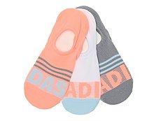 adidas Stripe Womens No Show Socks - 3 Pack