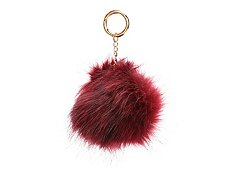 Violet Ray Large Faux Fur Pom Bag Charm