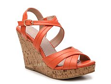 Restricted Rattle Wedge Sandal