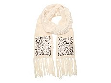 Betsey Johnson Sequins Pocket Oblong Scarf