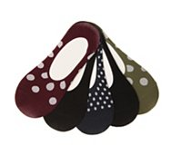 Kelly & Katie Microfiber Dots Womens No Show Liners - 5 Pack