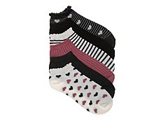 Kelly & Katie Heart Womens No Show Socks - 6 Pack