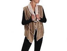 Mix No. 6 Faux Shearling Drape Vest