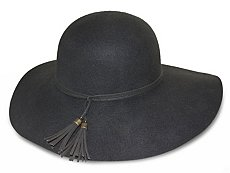 Nine West Tassel Felt Floppy Hat