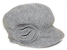 Nine West Knit Flower Newsboy Hat