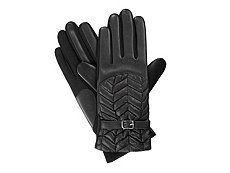 Isotoner Stretch Faux Leather Belted Women's Gloves