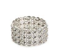 One Wink Crystal Circle Stretch Bracelet