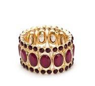 One Wink Berry Crystal Cuff Stretch Bracelet