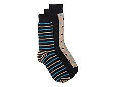 Aston Grey Stripe Mens Dress Socks - 3 Pack