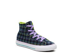 Converse Chuck Taylor All Star Plaid Girls Toddler & Youth High-Top Sneaker