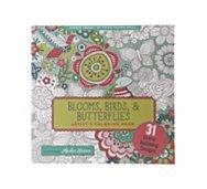 Peter Pauper Press Blooms, Birds, & Butterflies Coloring Book