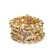 One Wink 3 Row Ball Stretch Bracelet