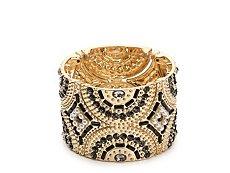 One Wink Crystal Bling Cuff Stretch Bracelet