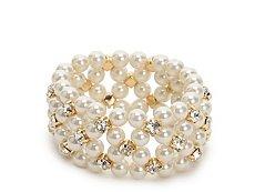 One Wink Crystal Pearl Stretch Bracelet