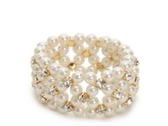 One Wink Crystal Pearl Stretch Bracelet Dsw