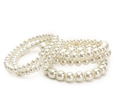 One Wink Pearl Stretch Bracelet Set