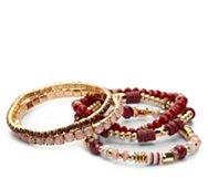 One Wink Berry Blush Stretch Bracelet Set
